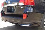 Юбка заднего бампера (с брызговиками) для Toyota Land Cruiser 200 2012- (S-Line, KR.SL.LC200RS)
