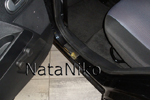 Накладки на внутренние пороги (нерж.) для Ford Fusion 2002- (Nata-Niko, P-FO14)