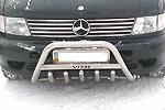Передняя защита с защитой картера и надписью для Mercedes Vito -2003 (Can-Otomotive, MEVI.35.1776)
