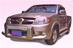 Накладка на передний бампер Toyota Fortuner 2005- (Power Ful, VO-A028)