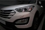 Декоративная накладка на передний бампер Hyundai Santa Fe 2013- (KAI, HYUNSF13.BPDP-01)