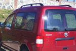 Рейлинги Black алюминиевые (концевики ABS пластик) для Volkswagen Caddy 2005- (Can-Otomotive, VWCAIABSB)