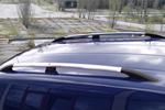 Рейлинги алюминиевые (концевики ABS пластик) для Volkswagen Caddy 2005- (Can-Otomotive, VWCAIABSS)
