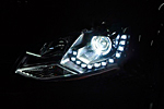 Передняя светодиодная оптика для Volkswagen Polo SD 2010- (JUNYAN, VWPLOSD20.02)