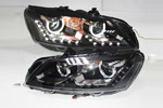 Передняя светодиодная оптика для Volkswagen Passat B7 2010- (JANYAN, VWPSB7.LD.V3)