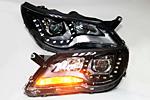 Передняя светодиодная оптика для Volkswagen Tiguan 2010- (JUNYAN, VWTIG.LDTYP10.01)