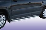 Боковые пороги с листом  Volkswagen Tiguan 2010- (UAtuning, VW.TGN.C202)