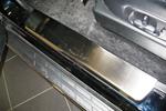 Накладки на внутренние пороги (нерж.) для Mitsubishi Pajero Wagon 2005- (Nata-Niko, P-MI11)