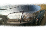 Задняя светодиодная оптика (задние фонари) для Hyundai Santa Fe 2009+ (JUNYAN, WH-HYU-SF-TL-SMO)