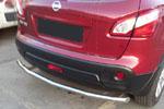 Защита заднего бампера Nissan Qashqai 2010- (UAtuning, NIS.0033)
