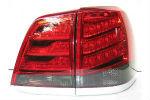 Задняя светодиодная оптика (задние фонари) для Toyota LC 200 2012+ (JUNYAN, YAB-LC-0205RS)