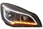 Передняя оптика (с ДХО) для Ford Kuga 2013+ (JUNYAN, TFR002-VTS)
