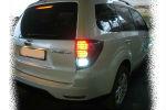 Задняя светодиодная оптика (задние фонари) для Subaru Forester SH 2009-2012 (JUNYAN, WHSF08TL)