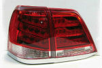 Задняя светодиодная оптика (задние фонари) для Toyota LC 200 2012+ (JUNYAN, YAB-LC-0205RC)