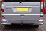 Защита задняя (уголки одинарные) для Mercedes Vito 2004- (Can-Otomotive, MEVI.53.1834)