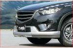 Защита переднего бампера (c LED) для Mazda CX-5 2012-2014 (JAOS, A016610)
