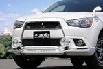 Защита переднего бампера Mitsubishi ASX 10- (Jaos, B151356)